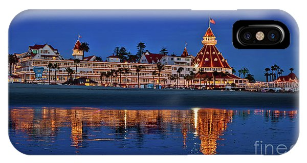 Christmas Lights At The Hotel Del Coronado IPhone Case