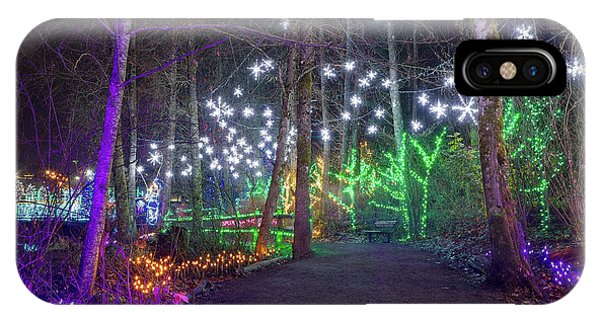 Christmas Lights Decoration Along Lafarge Lake Path IPhone Case