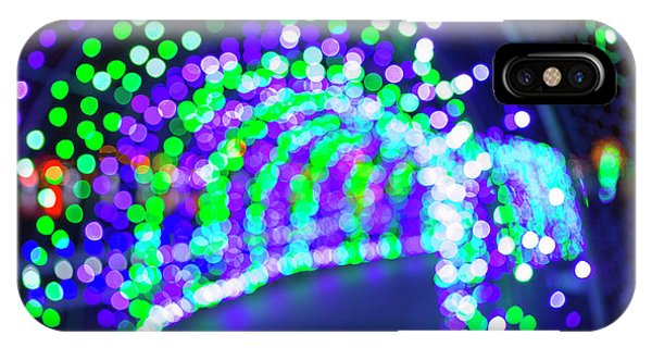 Christmas Lights Decoration Blurred Defocused Bokeh IPhone Case