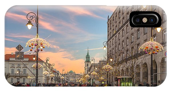 Christmas Lights In Warsaw IPhone Case