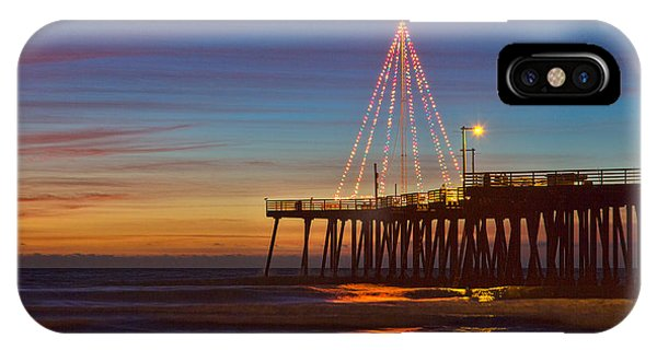 Christmas Lights On The Pismo Pier IPhone Case