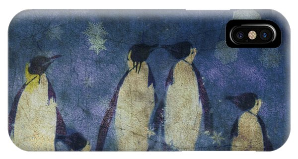 Penguin iPhone Case - Christmas Moon  by Paul Lovering