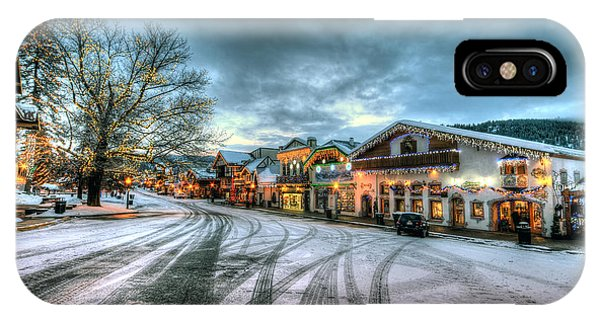 Christmas On Main Street IPhone Case