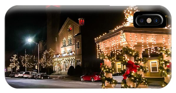 Christmas On Main Street Easthampton IPhone Case