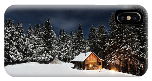 House iPhone Case - Christmas by Paul Itkin