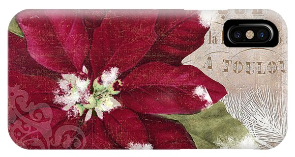 Amaryllis iPhone Case - Christmas Poinsettia by Mindy Sommers