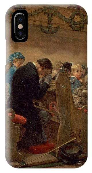 Coat iPhone Case - Christmas Prayers by Henry Bacon