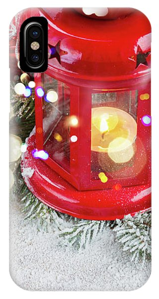 Christmas Red Lantern  IPhone Case