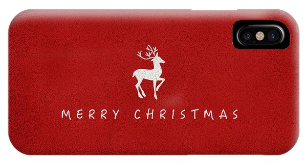 Holiday iPhone Case - Christmas Series Christmas Deer by Kathleen Wong