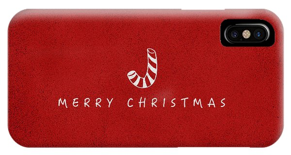 Christmas iPhone Case - Christmas Series Christmas Stick by Kathleen Wong