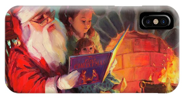 Santa Claus iPhone Case - Christmas Story by Steve Henderson