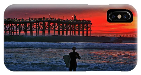 Christmas Surfer Sunset IPhone Case