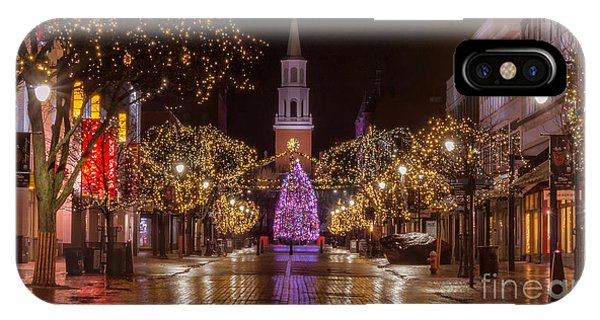 Christmas Time On Church Street. IPhone Case