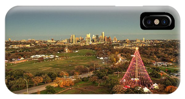 Christmas Tree In Austin IPhone Case