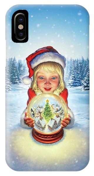 Snow iPhone Case - Christmas Tree by Mark Fredrickson