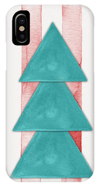 Christmas Tree iPhone Case - Christmas Tree Watercolor by Nordic Print Studio
