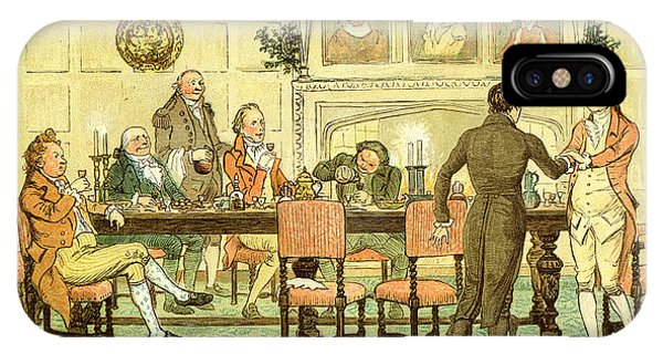 Fireplace iPhone Case - Christmas Welcome From Squire by Randolph Caldecott