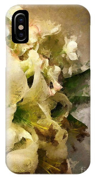 Christmas White Flowers IPhone Case