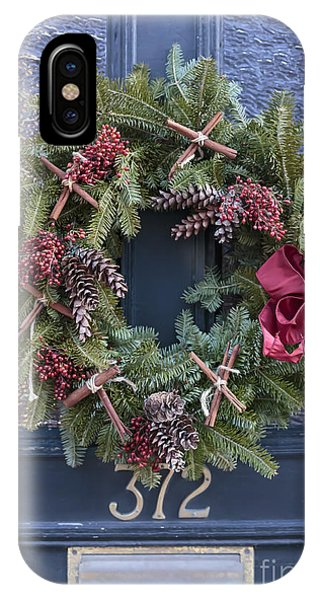 Christmas iPhone Case - Christmas Wreath by Edward Fielding