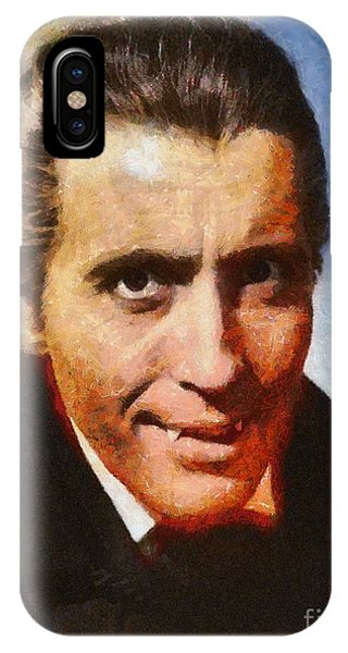 Dracula iPhone Case - Christopher Lee As Dracula by Mary Bassett