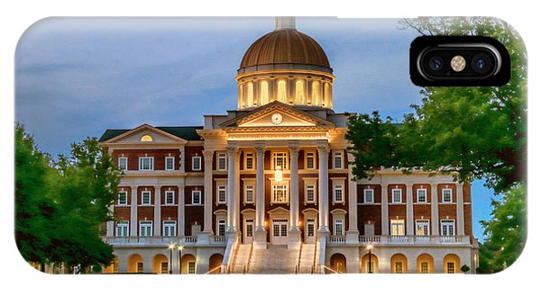 IPhone Case featuring the photograph Christopher Newport Hall An Exquisite Jewel by Ola Allen