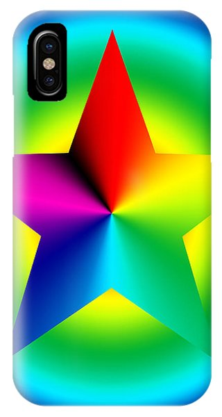 Chromatic Star With Ring Gradient IPhone Case