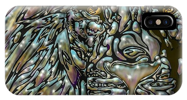 IPhone Case featuring the digital art Chrome Lion by Darren Cannell