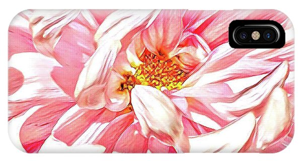 Detail iPhone Case - Chrysanthemum In Pink by Shadia Derbyshire