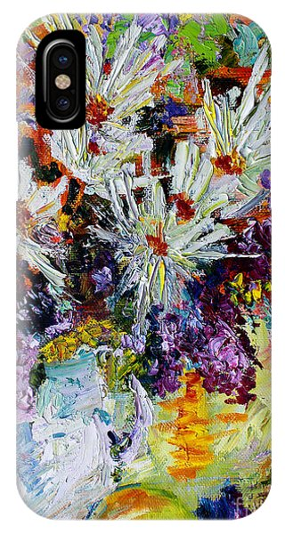 Chrysanthemums And Lilacs Still Life IPhone Case