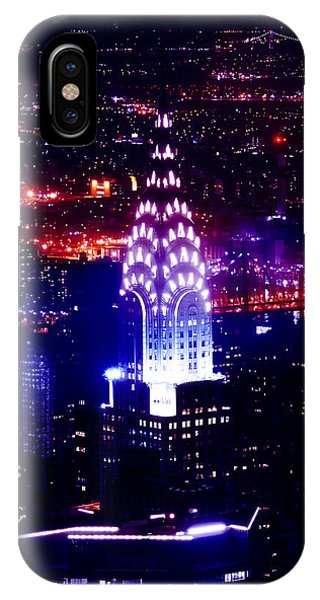 IPhone Case featuring the photograph Chrysler Building At Night by Az Jackson