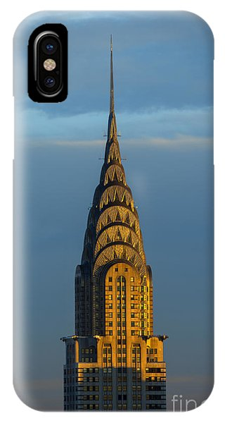 Architecture iPhone Case - Chrysler Building In The Evening Light by Diane Diederich