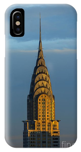 City Sunset iPhone Case - Chrysler Building In The Evening Light by Diane Diederich