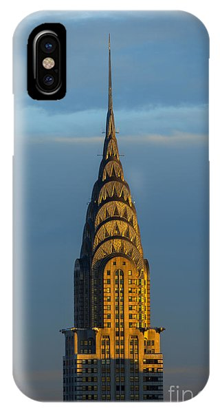 New York City iPhone Case - Chrysler Building In The Evening Light by Diane Diederich