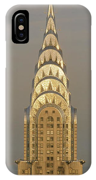 Stainless Steel iPhone Case - Chrysler Building New York Ny by Panoramic Images