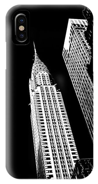 Chrysler Building iPhone Case - Chrysler Nights by Az Jackson