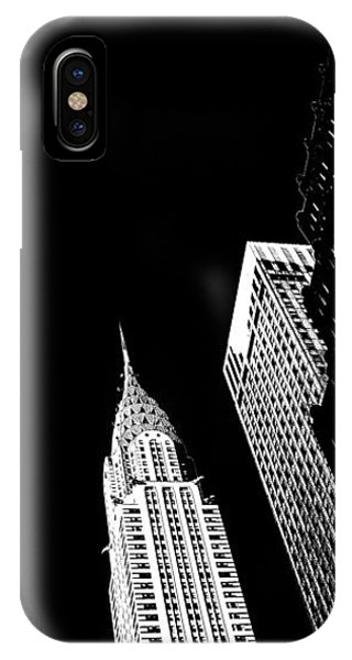 Architectural iPhone Case - Chrysler Nights by Az Jackson