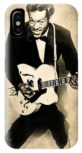 IPhone Case featuring the digital art Chuck Berry by Anthony Murphy