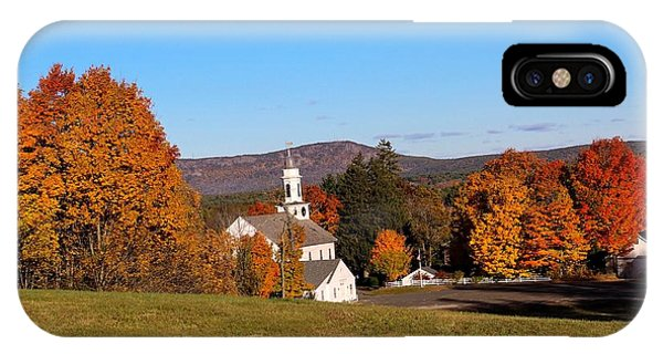 Church And Mountain IPhone Case