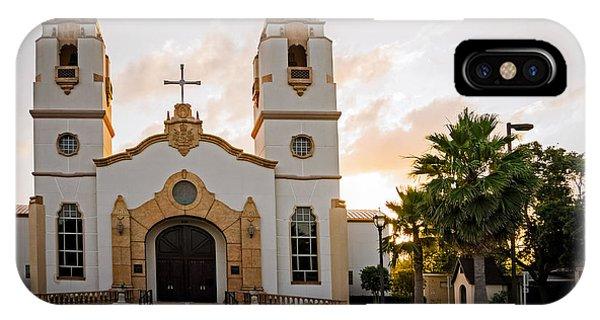 Church At Sunset IPhone Case