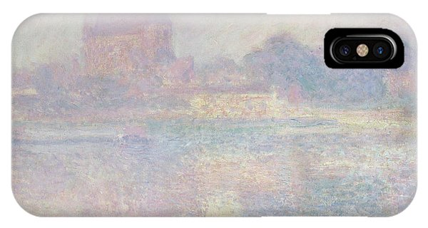 Shrouds iPhone Case - Church At Vernon  In The Fog by Claude Monet