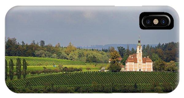 Church Birnau Lake Constance In Great Landscape IPhone Case