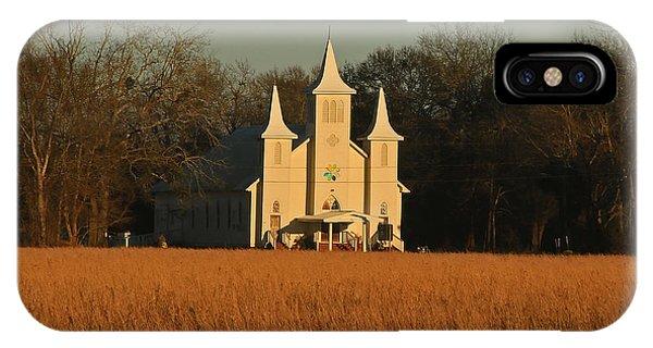 Church In A Field IPhone Case