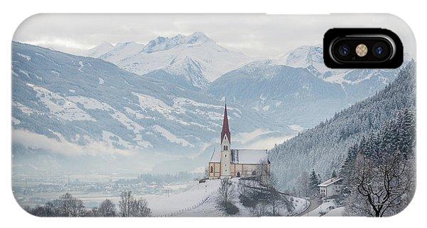 Church In Alpine Zillertal Valley In Winter IPhone Case