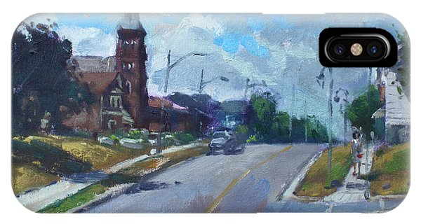 Downtown iPhone Case - Church In Georgetown Downtown  by Ylli Haruni