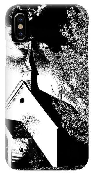 Church In Shadows IPhone Case