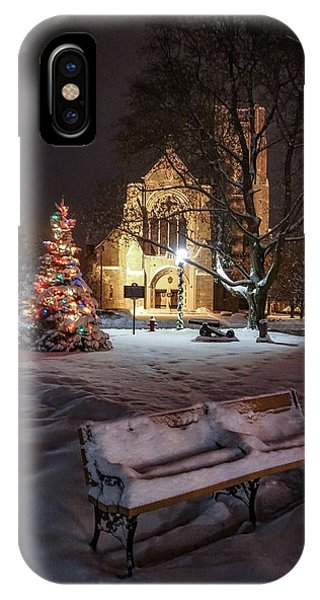 IPhone Case featuring the photograph Church Of St Mary St Paul At Christmas by Kendall McKernon