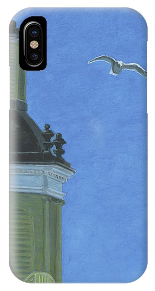 Church Steeple With Seagull IPhone Case