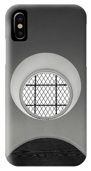 Church Window In Black And White IPhone Case