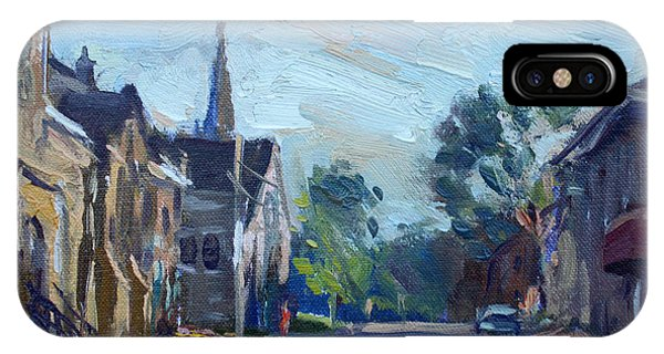 Downtown iPhone Case - Churche In Downtown Georgetown On by Ylli Haruni