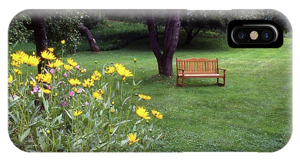 Churchyard Bench - Woodstock, Vermont IPhone Case